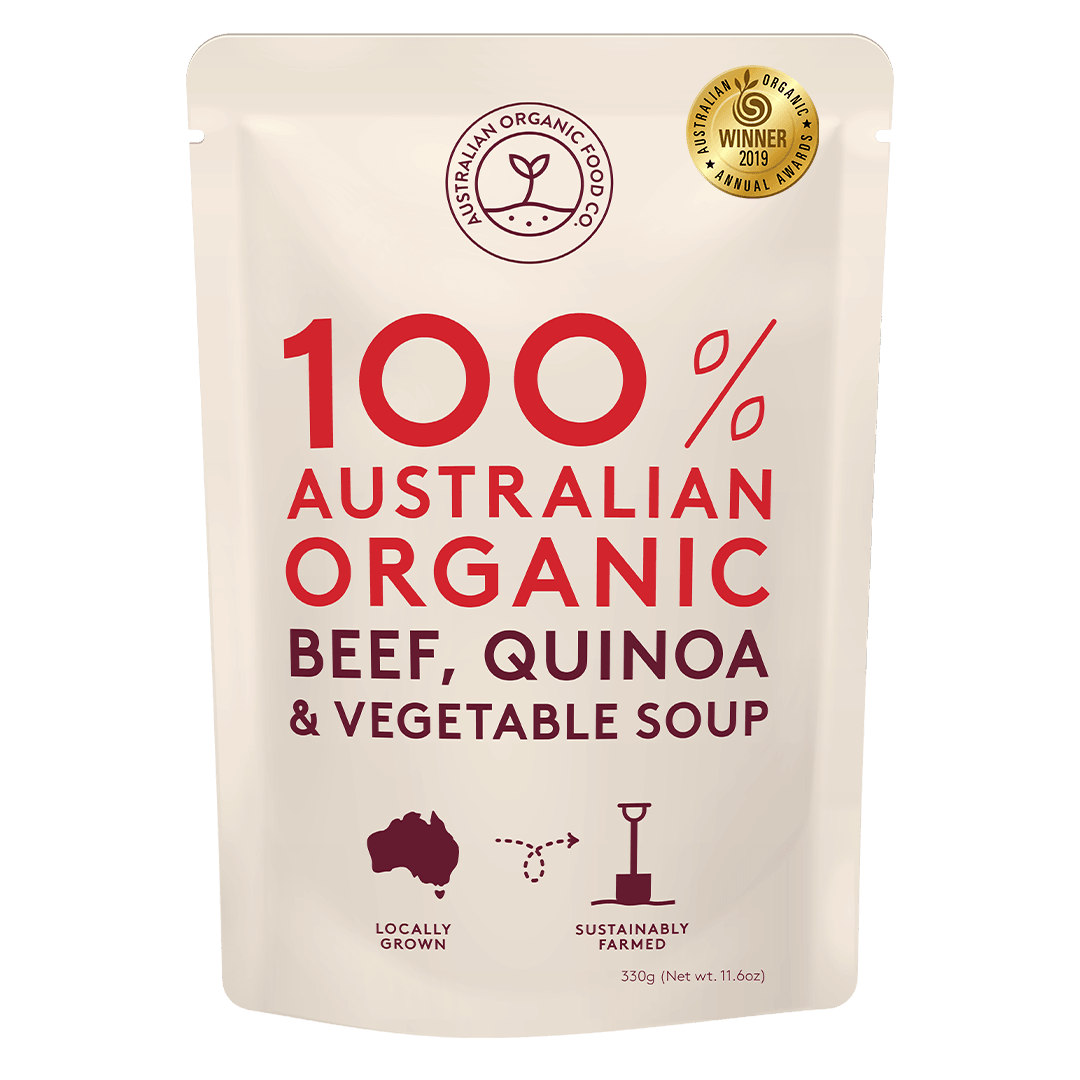 Organic Beef, Quinoa and Vegetable Soup 330gr - Thefoodshop.vn